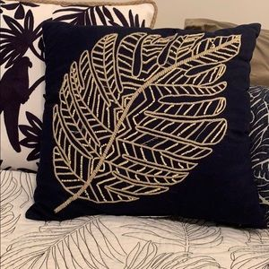 Other - Palm Leaf Beaded Throw Pillow